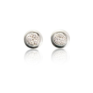 Dazzle 18ct White Gold & Diamond Earrings