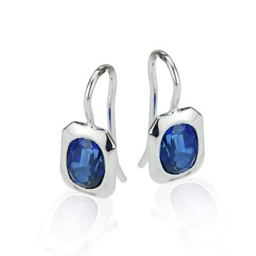 Contemporary Sapphire Drop Earrings