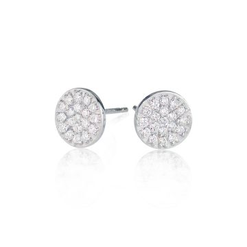 Dazzle Large 18ct White Gold & Diamond Earrings