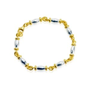 Barrel Silver & Gilt Bracelet