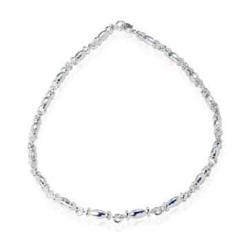 Barrel Silver Necklace