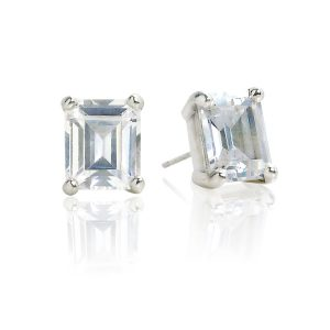 Big Rock Cubic Zirconia Stud Earrings