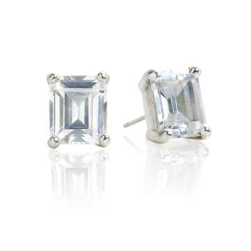 Big Rock Cubic Zirconia Stud Earrings