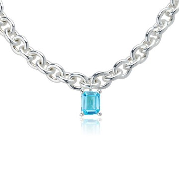 Big Rock Sky Blue Topaz Necklace
