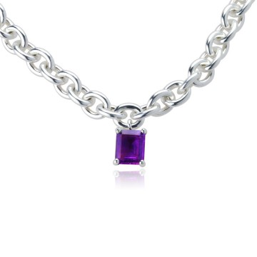 Big Rock Amethyst Necklace