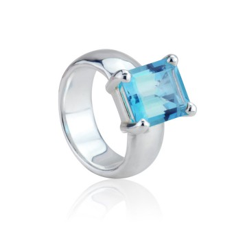 Big Rock Sky Blue Topaz Ring