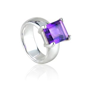 Big Rock Amethyst Ring