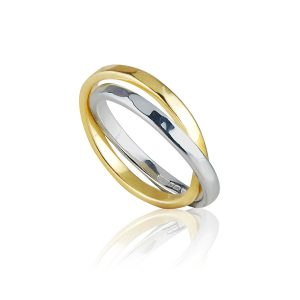 Conjunctus Semper Double Band Kinetic Ring