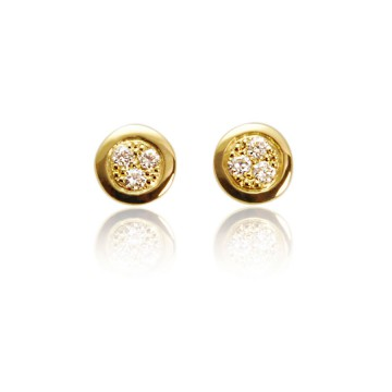Dazzle 18ct Yellow Gold & Diamond Earrings