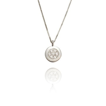 Dazzle 18ct White Gold & Diamond Pendant