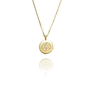Dazzle 18ct Yellow Gold & Diamond Pendant