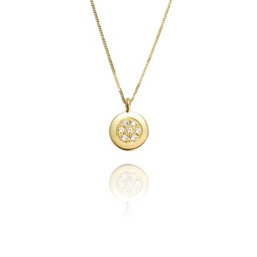 Dazzle 18ct Yellow Gold & Diamond Pendant