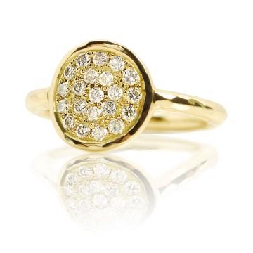 Dazzle 18ct Yellow Gold & Diamond Ring