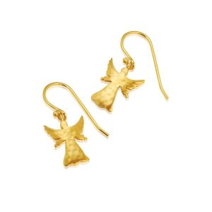 Guardian Angel Gilt Drop Earrings