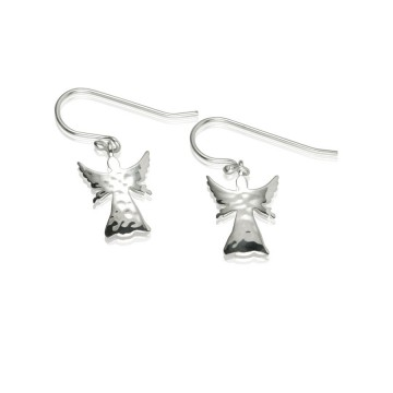 Guardian Angel Silver Drop Earrings