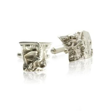 Gothic Ruin Silver Cufflinks
