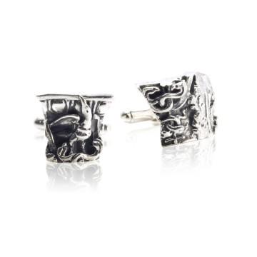 Gothic Ruin Silver Oxidised Cufflinks
