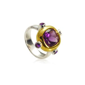 Gothic Medieval Amethyst Ring
