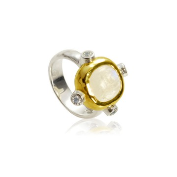 Gothic Medieval Moonstone Ring