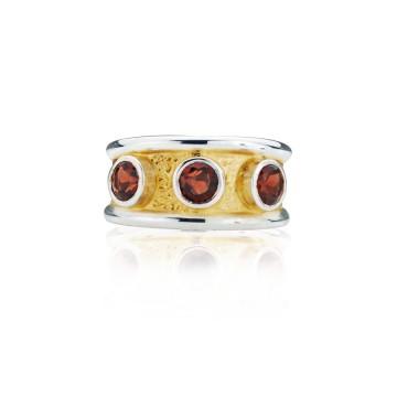 Gothic Garnet Band Ring