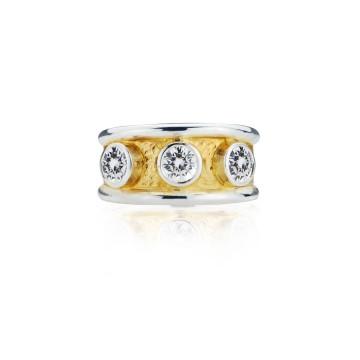 Gothic White Cubic Zirconia Band Ring