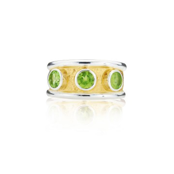 Gothic Peridot Band Ring