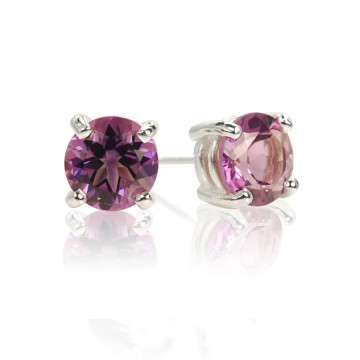 Big Brilliant Amethyst Stud Earrings