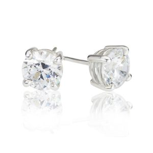 Big Brilliant Cubic Zirconia Stud Earrings