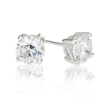Big Brilliant Cubic Zirconia Stud Earrings