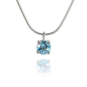 Big Brilliant Sky Blue Topaz Pendant