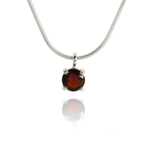Big Brilliant Garnet Pendant