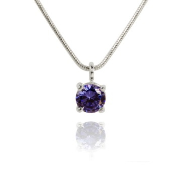 Big Brilliant Synthetic Tanzanite Pendant
