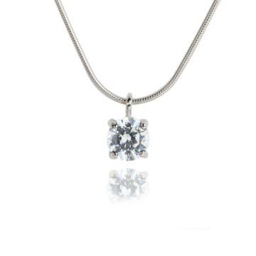 Big Brilliant Cubic Zirconia Pendant