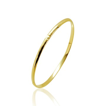 Heavy Hammered 9ct Yellow Gold Bangle
