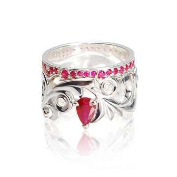 Ruby Rococo Ring