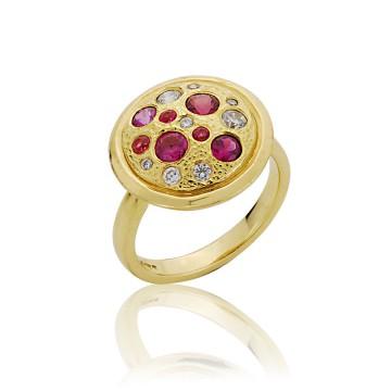 Meteor Camellia Diamond Ring