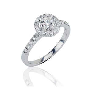 Halo 18ct White Gold Diamond Ring