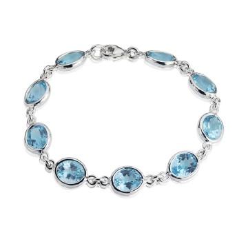 Gems Yard Sky Blue Topaz Bracelet
