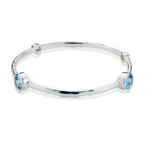 Gems Yard Sky Blue Topaz Bangle