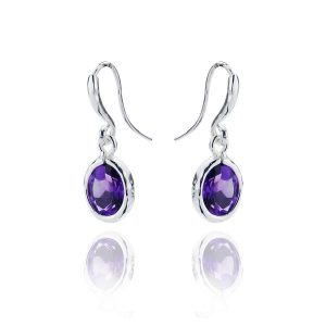 Gems Yard Amethyst Drop Earrings