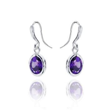 Gems Yard Amethyst Drop Earrings