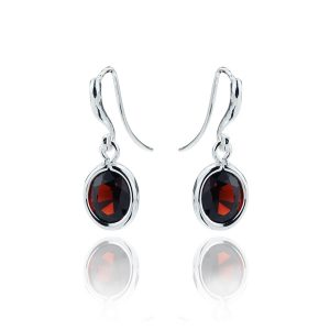 Gems Yard Garnet Drop Earrings