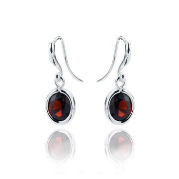 Gems Yard Garnet Drop Earrings