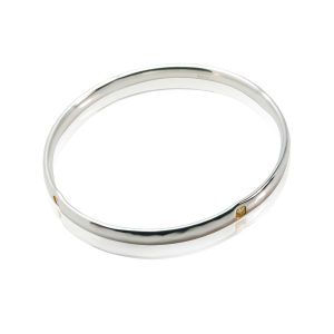 Heavy Hammered Heart Bangle