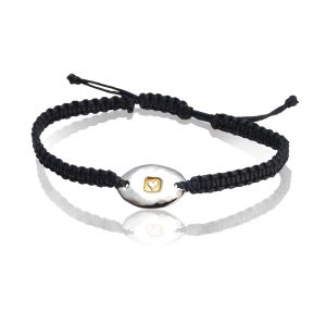 Heavy Hammered Heart Friendship Bracelet