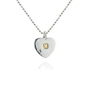 Heavy Hammered Heart Shape Pendant
