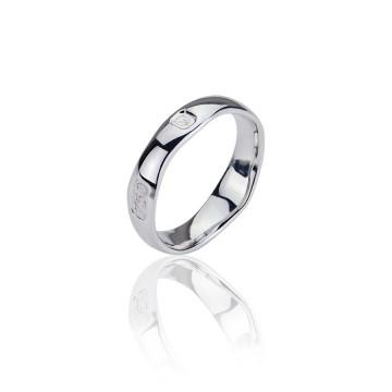 18ct White Gold Hallmark Ring