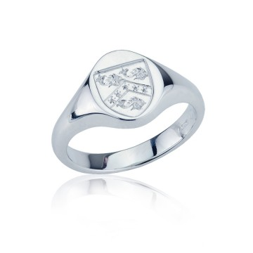 18ct White Gold Signet Ring