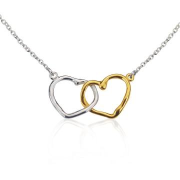 Conjunctus Semper silver & gilt heart pendant