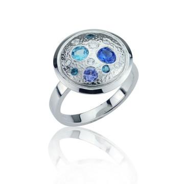 Meteor Ice Sapphire Ring